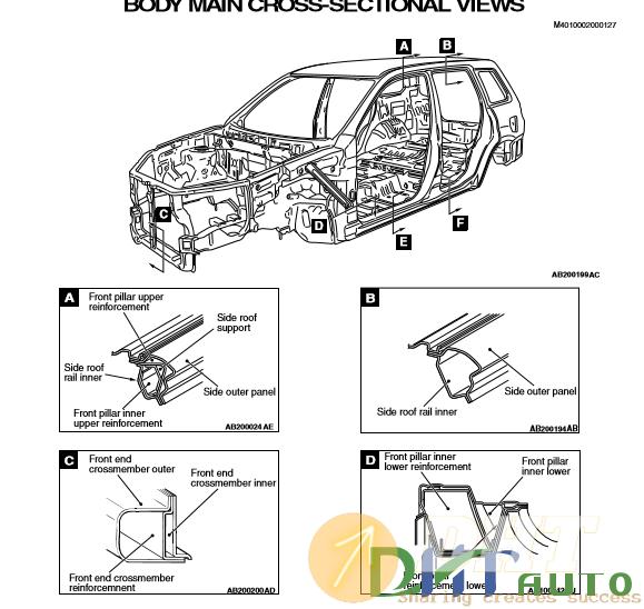 Service Manual Car Manuals Free Online 2006 Mitsubishi: Mitsubishi Outlander 2006 Body Repair