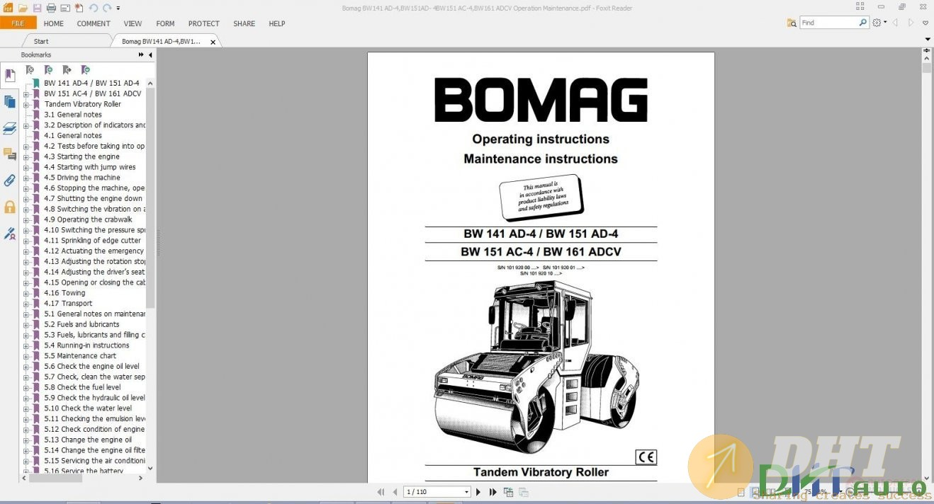 Bomag Service  U0026 Repair Information Manual