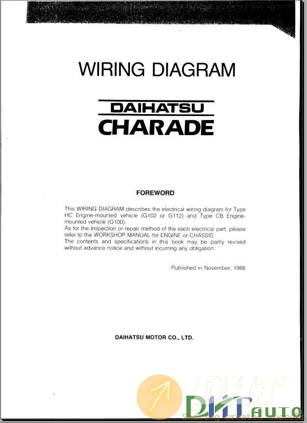 Wiring Diagram] - Daihatsu Charade G100 Wiring Diagram | Automotive & Heavy  Equipment Electronic parts catalogues, service & repair manuals, workshop  manualsDHT Auto