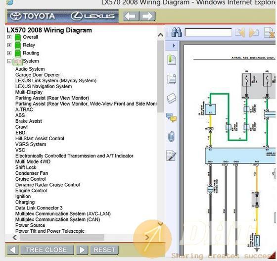 Lexus Lx570 2008 Wiring Diagram