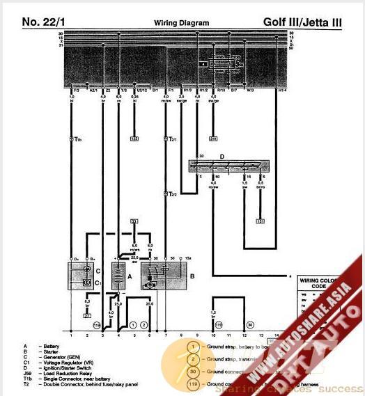 Wiring Diagram  - Golf 3