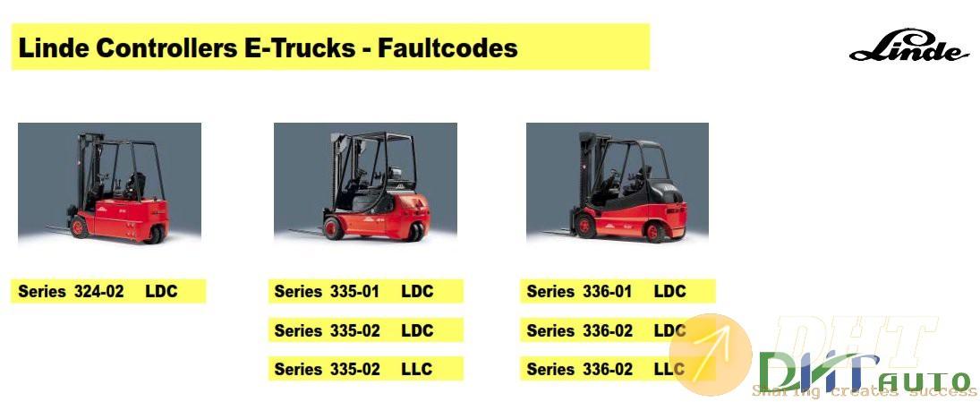 Linde E-Truck Fault Code