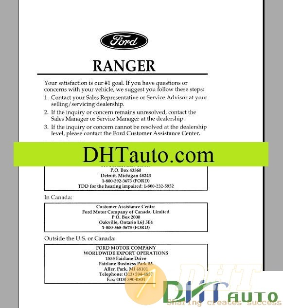 Ford All Model Shop Manual Full
