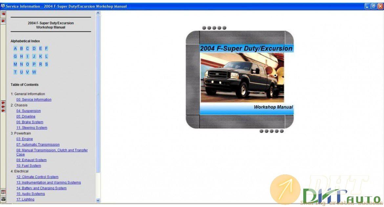Ford Usa Tis Service Information  03 2004