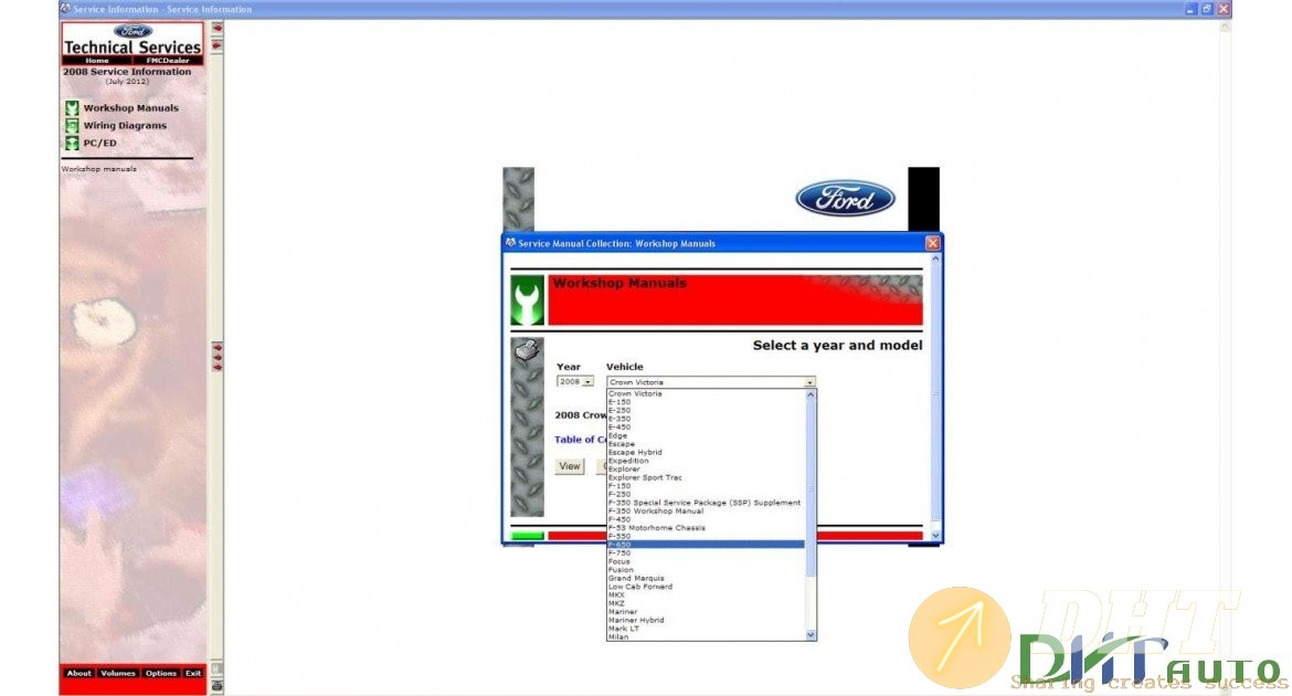 Ford Usa Tis Service Information  2008