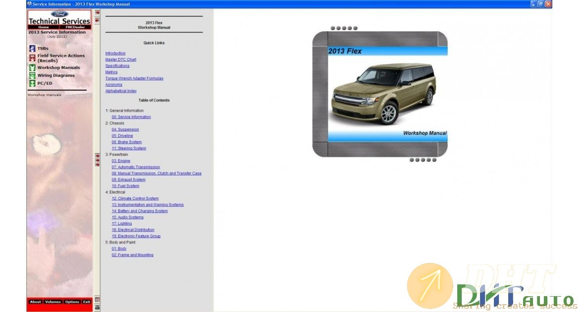 Car  U0026 Truck - Ford Usa Tis Service-repair Information 2012