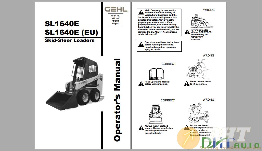 GEHL SL1640E Steer Loader Operator's Manual.png