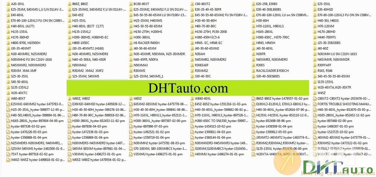 Hyster Parts And Service Manuals Full