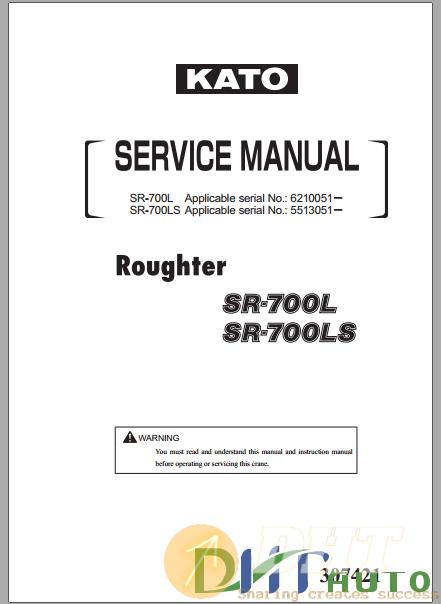 Kato Roughter SR700L,SR700LS Service Manual.png