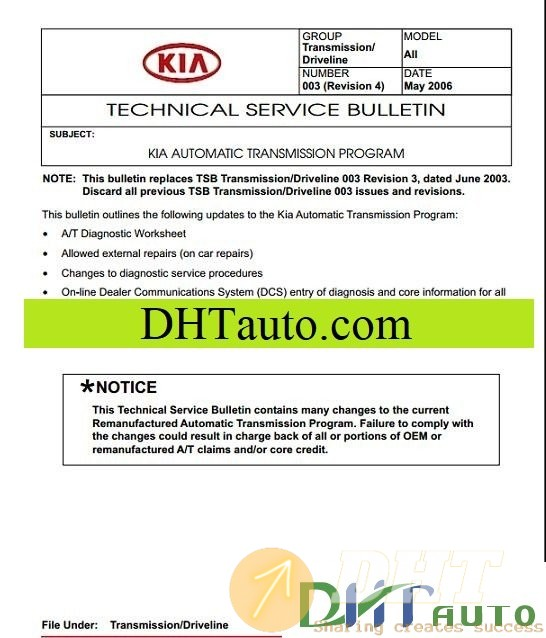 Kia All Model Shop Manual Full