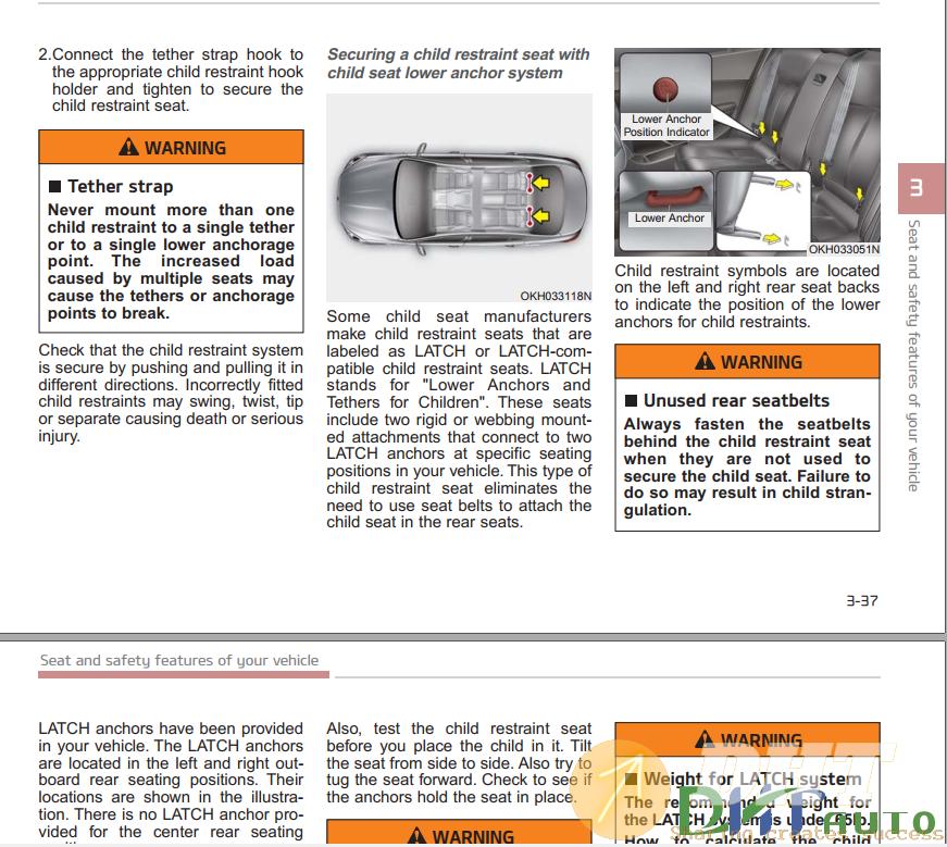 2020 Kia K900 Owners Manual Manual Guide
