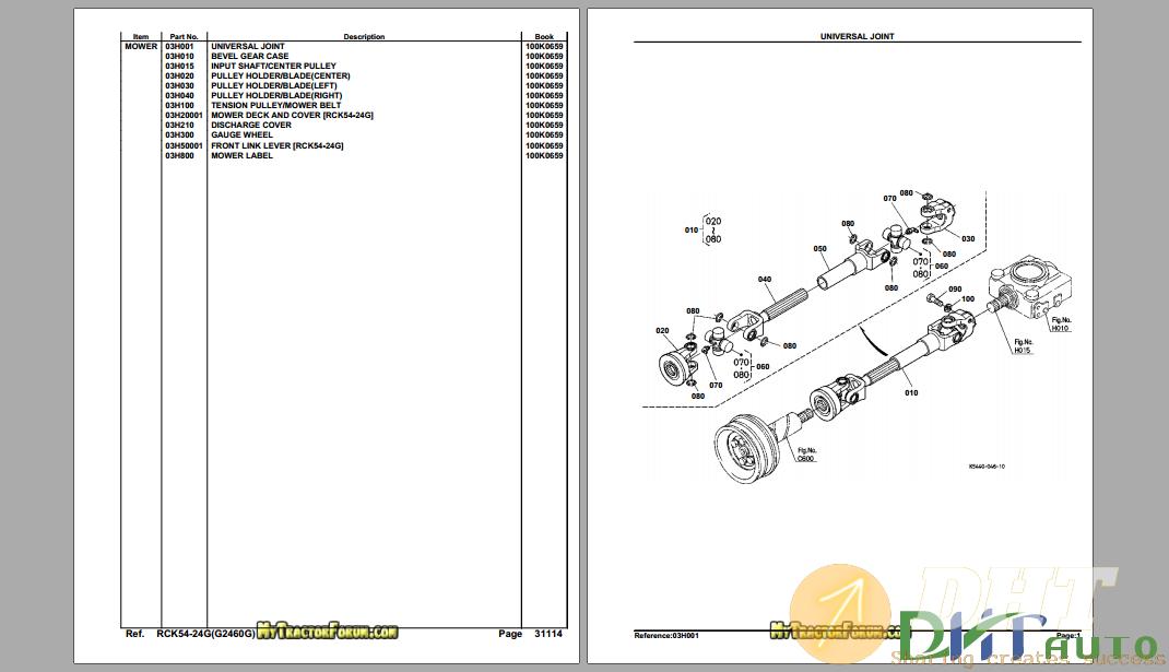 Kubota RCK54-24G ( G2460G) Mower Deck Parts Manual-.png