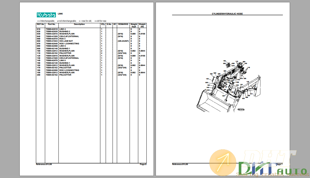 Kubota TL420(B20) Hydraulic Excavator Parts Manual-1.png