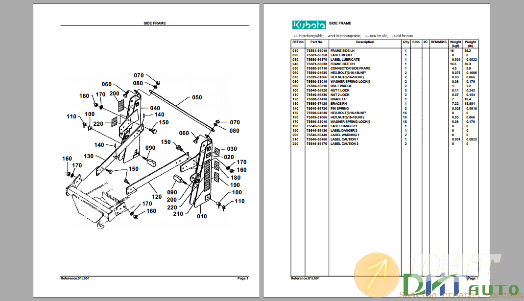 Kubota TL420A Hydraulic Loader Parts Manual.png