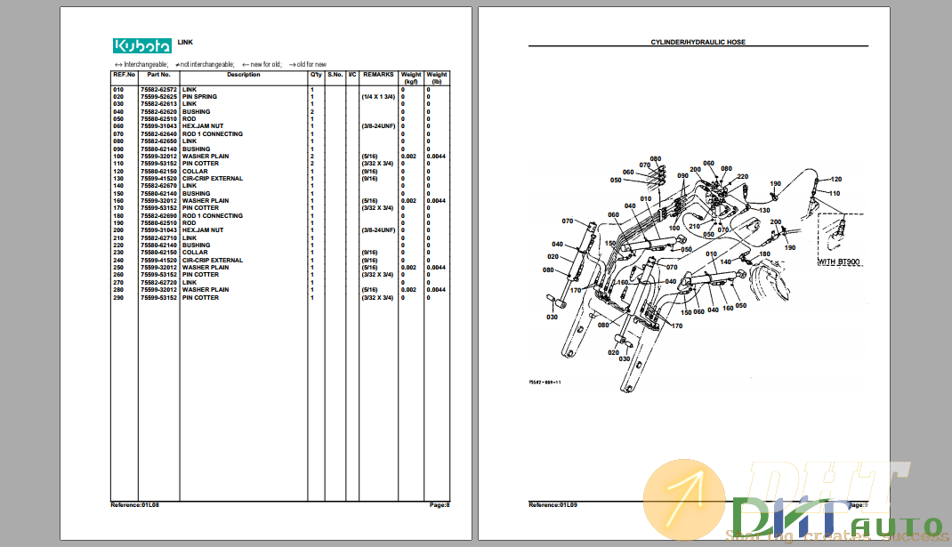 Kubota TL720A(L35) Hydraulic Loader Parts Manual-1.png