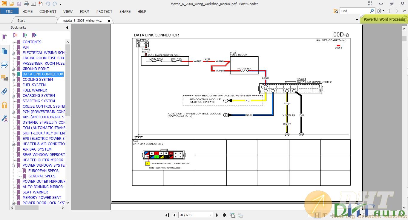 2008 mazda 6 wiring diagram     wiring       diagram        mazda       6       2008       wiring    workshop manual      wiring       diagram        mazda       6       2008       wiring    workshop manual
