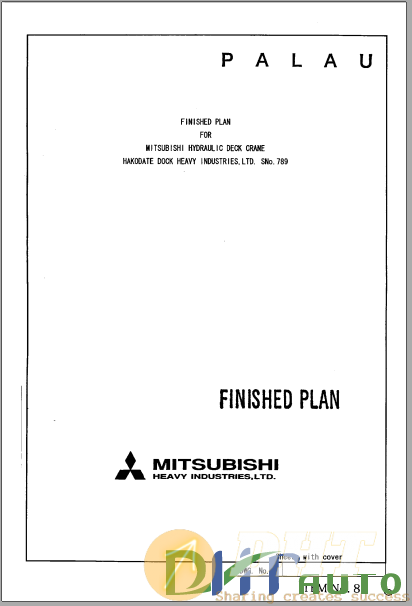 MITSUBISHI deck crane 30t Year 2002 H082 deck crane Maintenance Manual.png