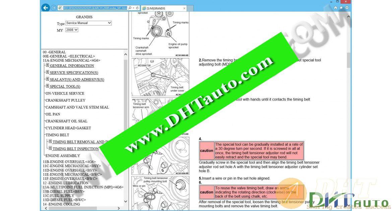 Mitsubishi Grandis Workshop Manual  2003