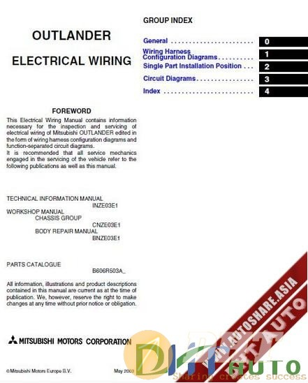 Mitsubishi L400 Electrical Wiring Diagram Manual 1995 1998