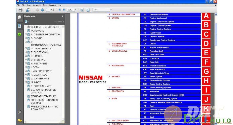 Nissan 350z Z33 Coupe  U0026 Roadster Service Manual  2003