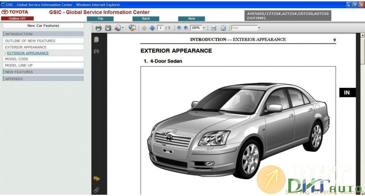 Toyota Avensis T25 Service  U0026 Repair Manual Update 2008