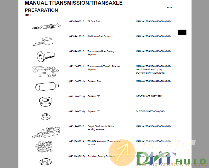 Toyota C50 Automatic Transmission Repair Manual 4.png