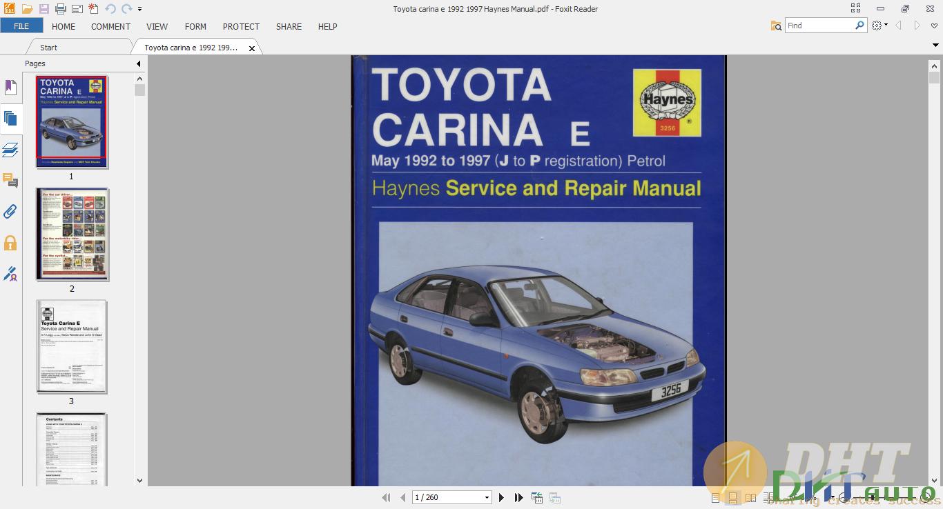 Toyota carina e 1992 1997 Haynes Manua.png