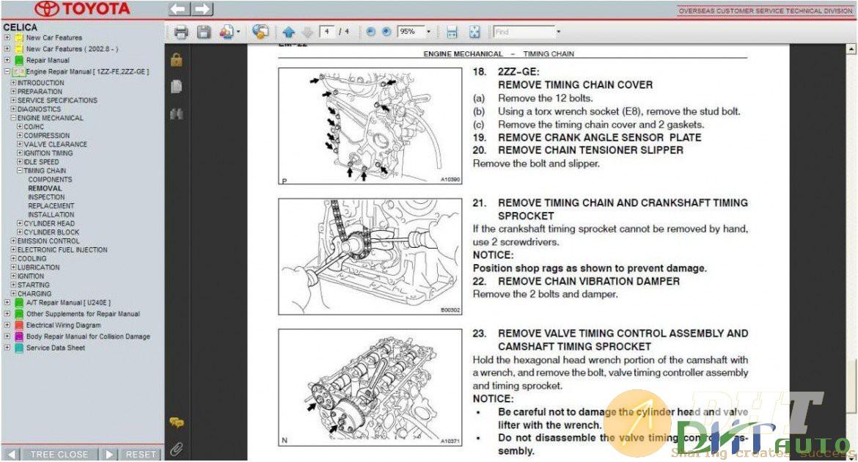 Toyota Celica Service  U0026 Repair Manual Update 2005
