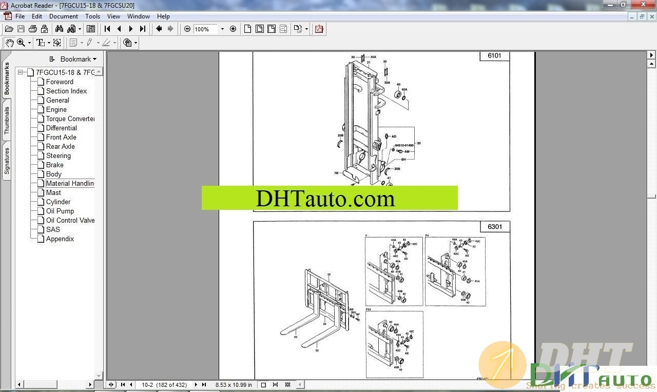 Toyota Forklift 7 Series Repair Manuals  2004
