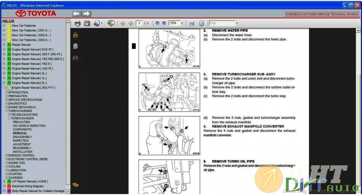 Toyota Hilux Service  U0026 Repair Manual Update 1997