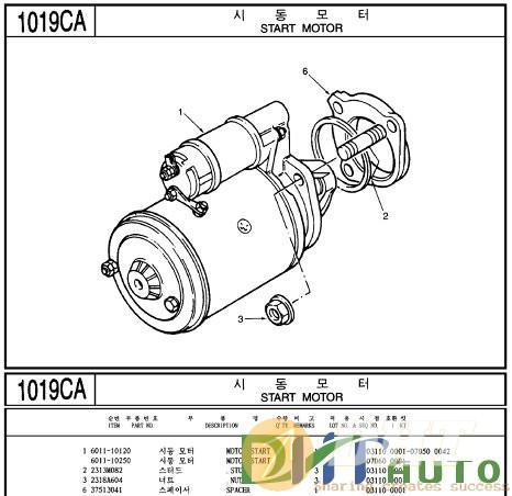 SamSung _Forklift _ FA50DT Model Part Manual