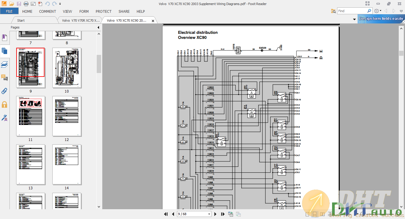 Volvo  V70 XC70 XC90 2003 Supplement Wiring Diagrams 3.png