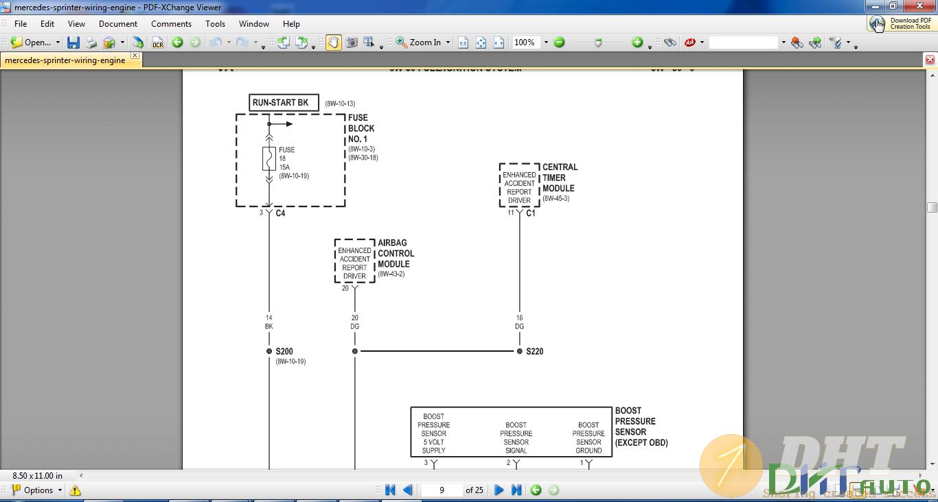 Workshop Manual - Wiring Engine Of Mercedes Sprinter ...